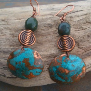 Copper Patina Earrings Project Idea