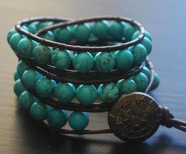 Turquoise Wrist Wrap Project