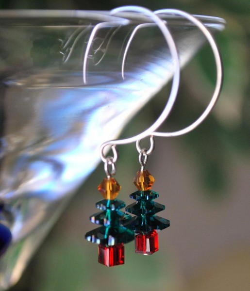 Joyeux Noel Christmas Tree Beaded Earrings Project