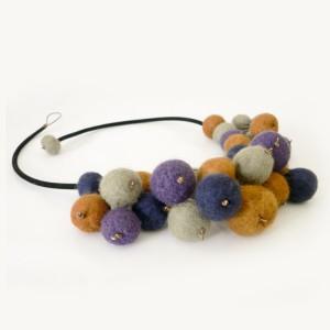 Felted Grape Necklace Project Idea