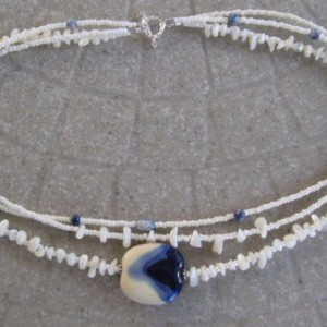 Mother Of Pearl Beaded Necklace Project