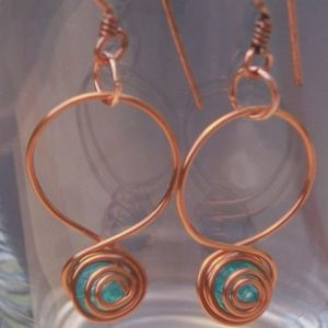 Copper And Turquoise Earrings Jewelry Idea
