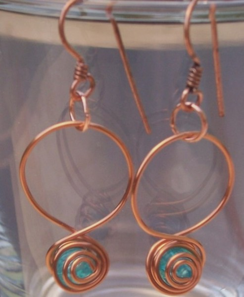 Copper And Turquoise Earrings Project
