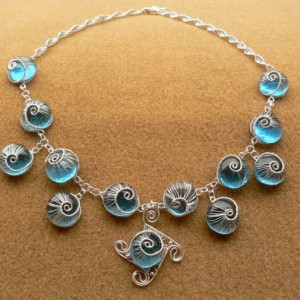 Blue Woven Snails Necklace Jewelry Idea