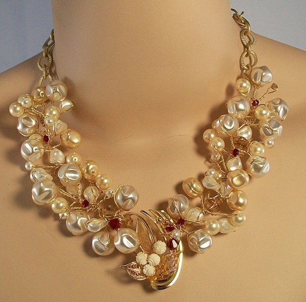 Pearl And  Vintage Pendant Necklace Project
