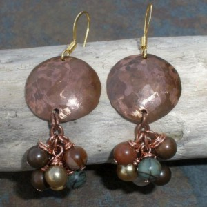 Copper And Jasper Earrings