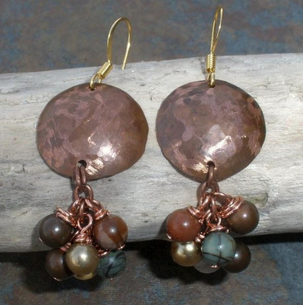 Copper And Jasper Earrings Project