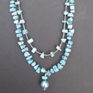 Flip Flop Turquoise Beaded Necklace Project