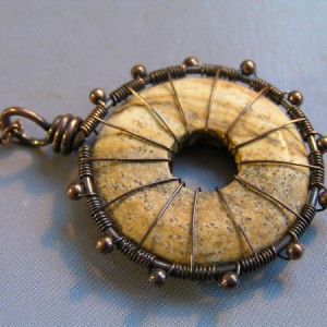 Desert Jasper Wheel Of Infinity Pendant Project Idea