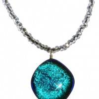 Jessica's Big Blue Glass Drop Necklace Project