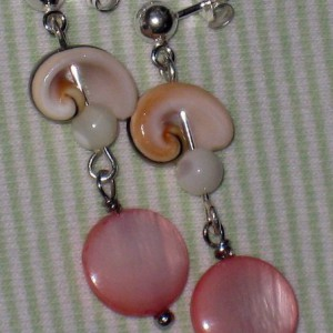 Natural Shell And Mother Of Pearl Earrings Jewelry Idea