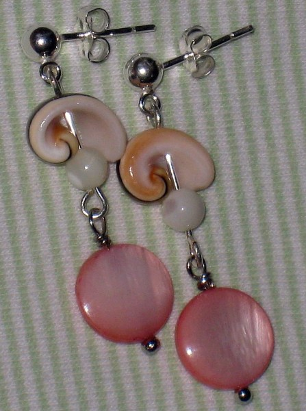 Natural Shell And Mother Of Pearl Earrings