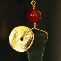 Green Aventurine With Gold Disk Earrings Project