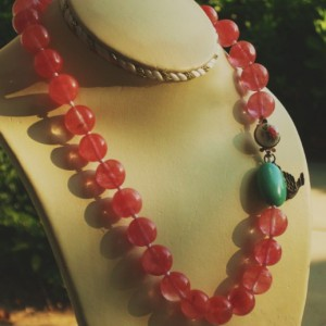 Pink Lemonade With Mint Necklace Jewelry Idea