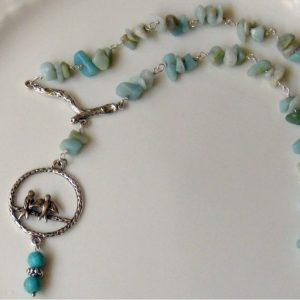 Bird Family Amazonite Necklace Project