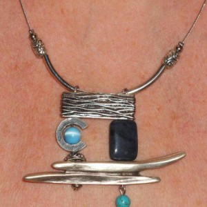 Abstract Pendant With Turquoise And Lapis Lazuli Jewelry Idea