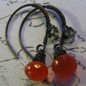 Carnelian Single Drop Earrings Jewelry Idea