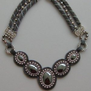 Hematite Cabochon Necklace Project Idea