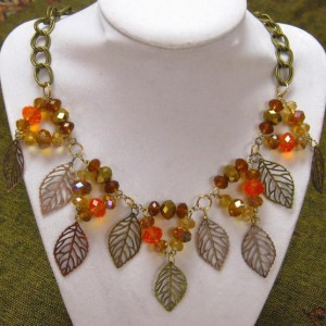 Falling Leaves Necklace Project