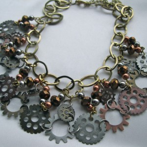 Steampunk Lace Necklace Jewelry Idea