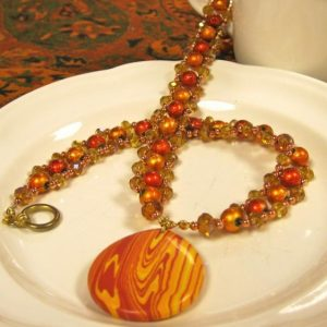 Orange Elegance Necklace Jewelry Idea