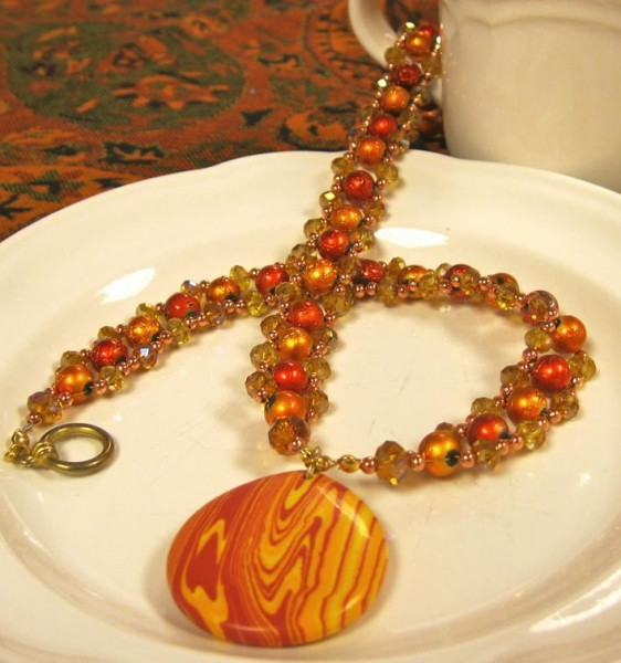 Orange Elegance Necklace Project