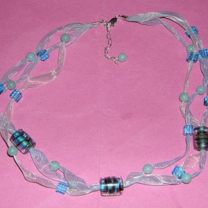 Sparkling Waters Ribbon Necklace Jewelry Idea