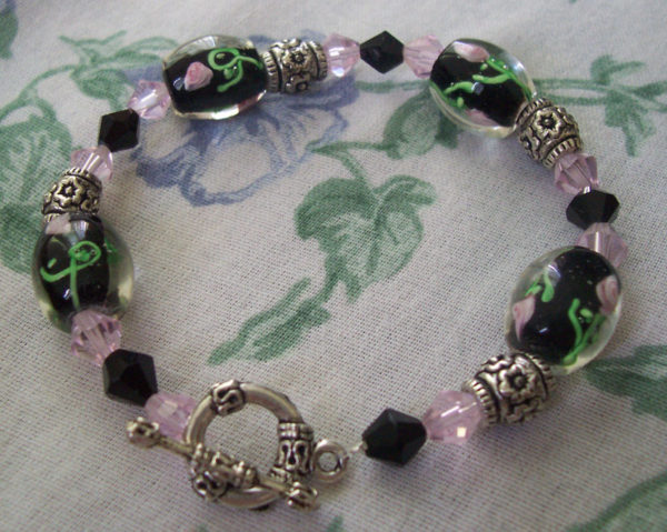 Glass Rose Bracelet Project