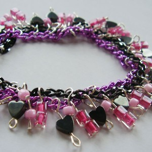 Alluring Heart Cluster Bracelet Project Idea