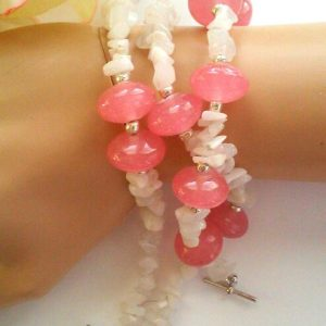 Flamingo Pink Beaded Bracelet Set Project