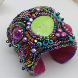 Kaleidoscope Beaded Cuff Project
